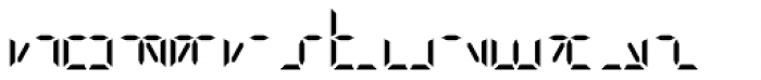 Digital-LED Regular Font LOWERCASE