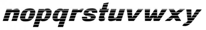 Digital Maurice HStripes Italic Font LOWERCASE