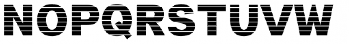 Digital Maurice HStripes Font UPPERCASE