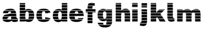 Digital Maurice HStripes Font LOWERCASE