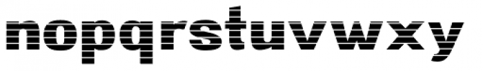 Digital Maurice HStripes Font LOWERCASE