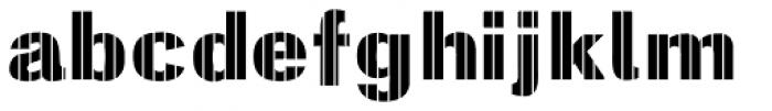 Digital Maurice VStripes Font LOWERCASE
