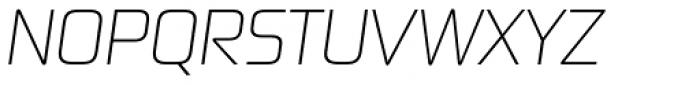 Digital Sans Now ML Cond UltraLight Italic Font UPPERCASE