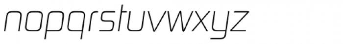 Digital Sans Now ML Cond UltraLight Italic Font LOWERCASE