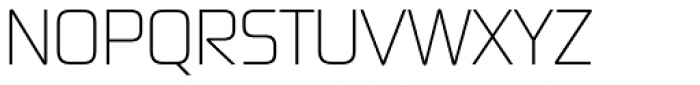 Digital Sans Now ML Cond UltraLight Font UPPERCASE