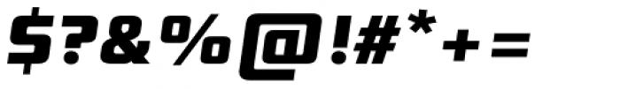 Digital Sans Now ML ExtraBold Italic Font OTHER CHARS