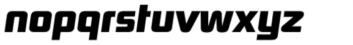Digital Sans Now ML ExtraBold Italic Font LOWERCASE