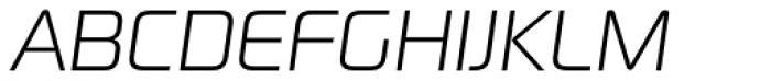 Digital Sans Now ML ExtraLight Italic Font UPPERCASE