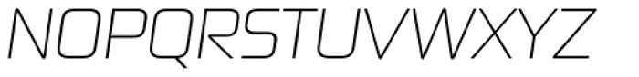 Digital Sans Now ML UltraLight Italic Font UPPERCASE