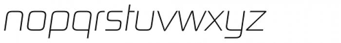 Digital Sans Now ML UltraLight Italic Font LOWERCASE