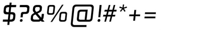 Digital TS Regular Oblique Font OTHER CHARS