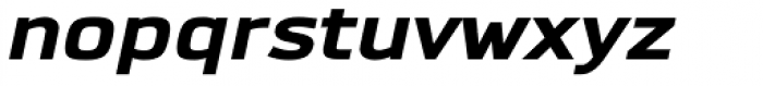 Dignus Expanded ExtraBlack Italic Font LOWERCASE