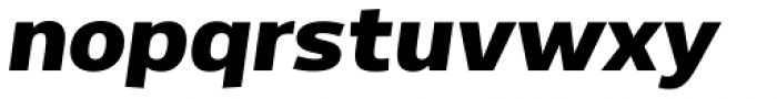 Dillan Extra Bold Italic Font LOWERCASE