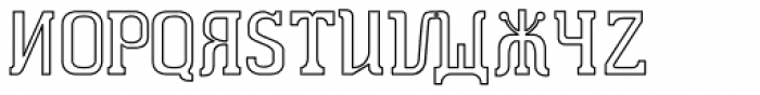 Dimitri Outline Font UPPERCASE