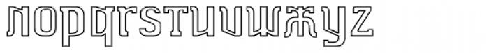 Dimitri Outline Font LOWERCASE
