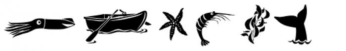 Dinghybats Regular Font LOWERCASE