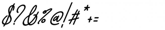 Dinila Script Italic Font OTHER CHARS