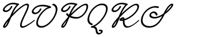 Dinila Script Italic Font UPPERCASE