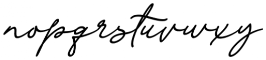Dinila Script Italic Font LOWERCASE