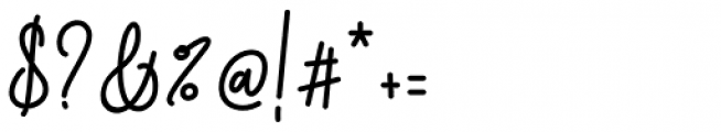 Dinila Script Regular Font OTHER CHARS