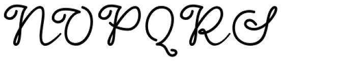 Dinila Script Regular Font UPPERCASE