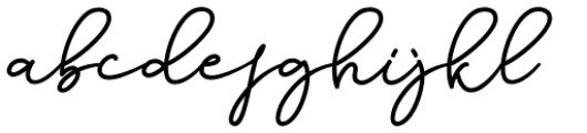 Dinila Script Regular Font LOWERCASE