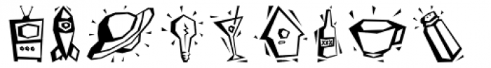Dinky Dinks Font UPPERCASE