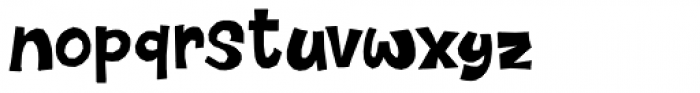Dinosaur Cake Font LOWERCASE