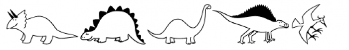 Dinosaurs MT Font LOWERCASE