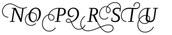 Diogenes Decorative Light Italic 2 Font UPPERCASE