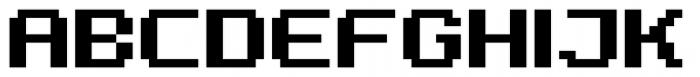 Diphtong Pixel Bold Font UPPERCASE