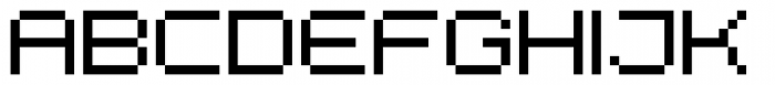 Diphtong Pixel Regular Font UPPERCASE