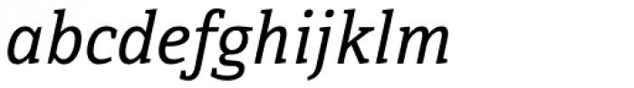 Directa Serif Italic Font LOWERCASE