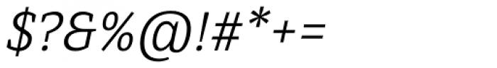 Directa Serif Light Italic Font OTHER CHARS