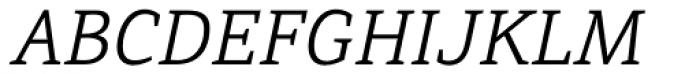 Directa Serif Light Italic Font UPPERCASE