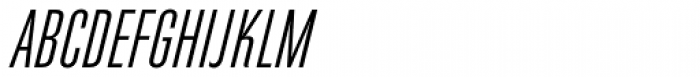 Directors Gothic 210 Regular Obl Font UPPERCASE