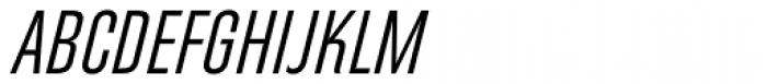 Directors Gothic 230 Regular Obl Font UPPERCASE