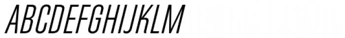Directors Gothic 250 Light Obl Font UPPERCASE