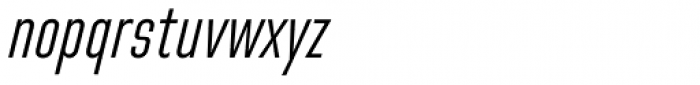 Directors Gothic 250 Light Obl Font LOWERCASE