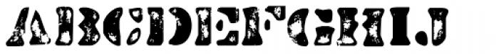 Dirty Bakers Dozen Scorch Font UPPERCASE