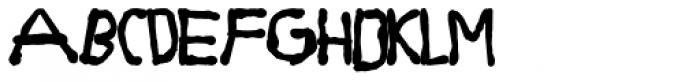 Dirty Bubble Gum Grunge Fat Font UPPERCASE