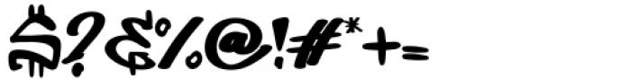 Dirty Lizard Regular Font OTHER CHARS