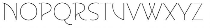 Disalina Hairline Font UPPERCASE