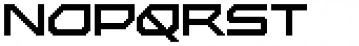 Disassembler Font UPPERCASE
