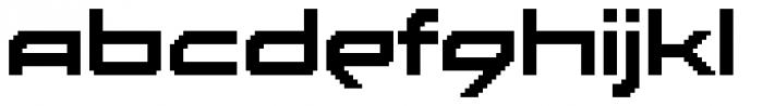 Disassembler Font LOWERCASE
