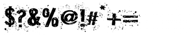 Disgrunged_Three Font OTHER CHARS