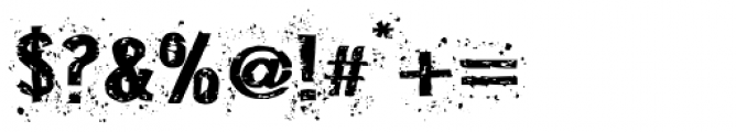 Disgrunged_Two Font OTHER CHARS