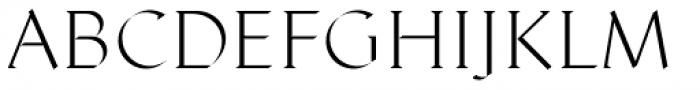 Displace Serif Light Font UPPERCASE