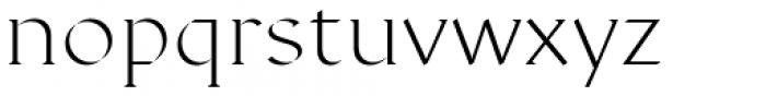 Displace Serif Light Font LOWERCASE