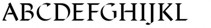 Displace Serif Medium Font UPPERCASE
